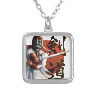 samurai silver plated necklace
