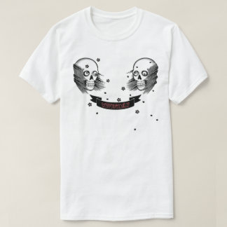 samurai skull and cherry blossom T-Shirt