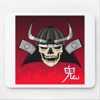 Samurai Skull Mouse Pad