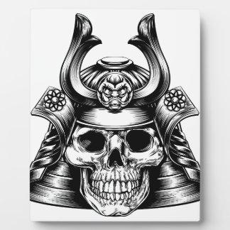 Samurai Skull Plaque
