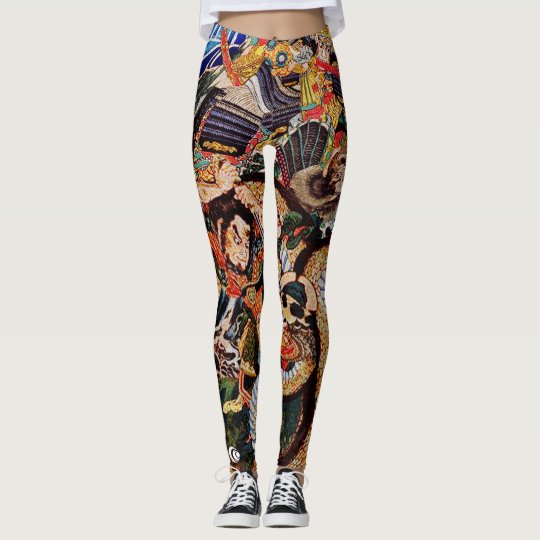 Samurai Slaying Beasts Leggings