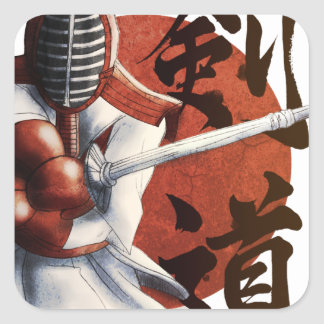 samurai square sticker