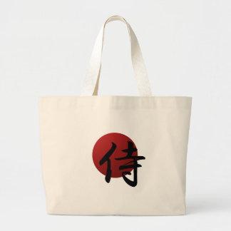 Samurai Sun Large Tote Bag