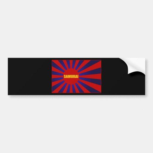 samurai sun rising bumper sticker