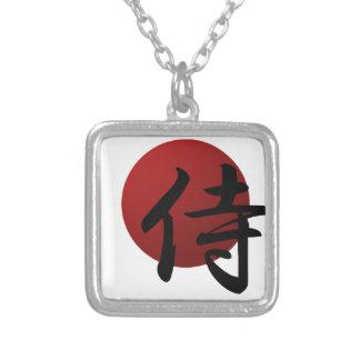 Samurai Sun Silver Plated Necklace