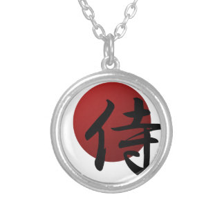 Samurai Sun Silver Plated Necklace