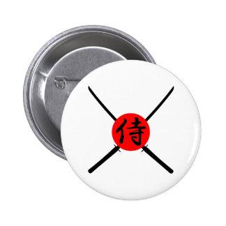 SAMURAI - Sword & Kanji 2 Inch Round Button