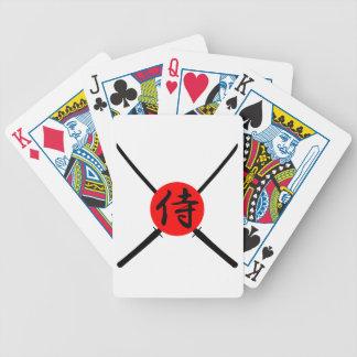 SAMURAI - Sword & Kanji Bicycle Playing Cards