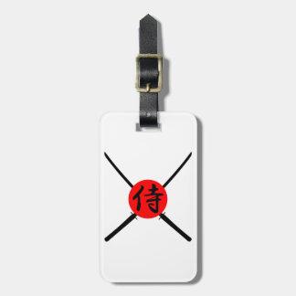 SAMURAI - Sword & Kanji Luggage Tag