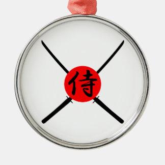 SAMURAI - Sword & Kanji Metal Ornament