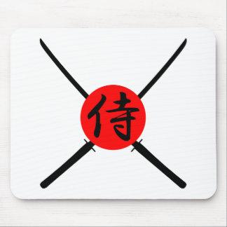 SAMURAI - Sword & Kanji Mouse Pad