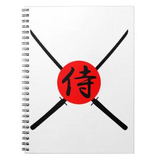 SAMURAI - Sword & Kanji Notebooks