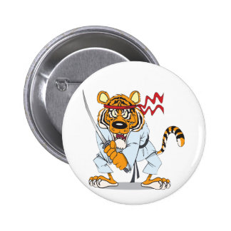 Samurai-Tiger 2 Inch Round Button