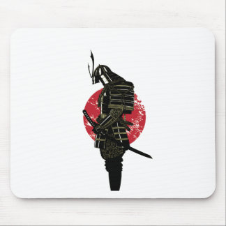 Samurai twilight mouse pad