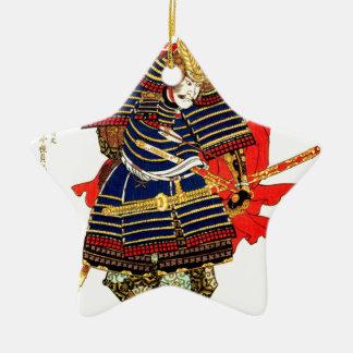 Samurai - Utagawa Kuniyoshi 歌川 国芳 Ceramic Star Ornament