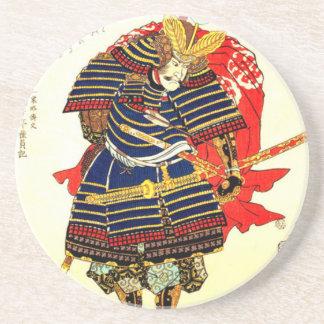 Samurai - Utagawa Kuniyoshi 歌川 国芳 Coaster