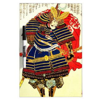 Samurai - Utagawa Kuniyoshi 歌川 国芳 Dry Erase Board