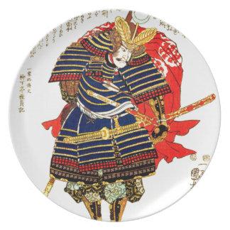 Samurai - Utagawa Kuniyoshi 歌川 国芳 Plate