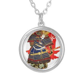 Samurai - Utagawa Kuniyoshi 歌川 国芳 Silver Plated Necklace