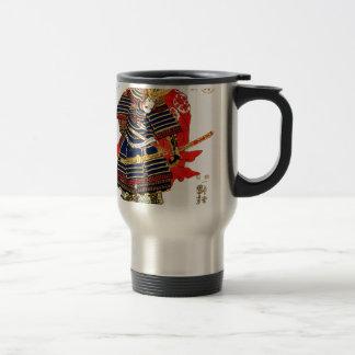 Samurai - Utagawa Kuniyoshi 歌川 国芳 Travel Mug