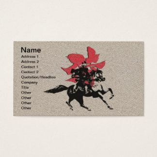 Samurai Warrior Business Card