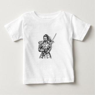 Samurai Warrior Fight Stance Tattoo Baby T-Shirt