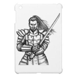 Samurai Warrior Fight Stance Tattoo iPad Mini Covers