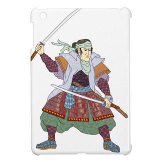 Samurai Warrior Fighting Stance Mono Line iPad Mini Case