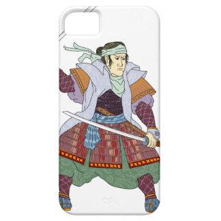 Samurai Warrior Fighting Stance Mono Line iPhone 5 Case