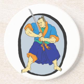 Samurai Warrior Katana Enso Coaster