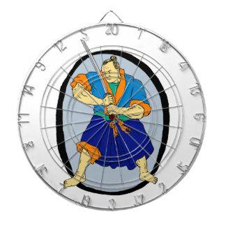 Samurai Warrior Katana Enso Dartboard