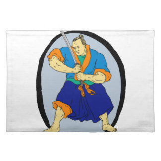 Samurai Warrior Katana Enso Placemat