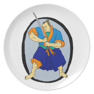 Samurai Warrior Katana Enso Plate