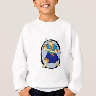 Samurai Warrior Katana Enso Sweatshirt