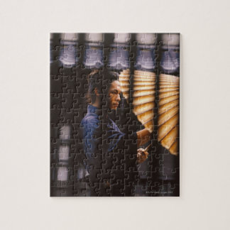Samurai warrior keeping an umbrella jigsaw puzzle