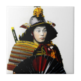Samurai Warrior of Old Japan Vintage Warrior 侍 Ceramic Tiles