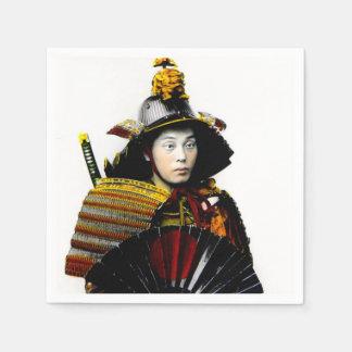 Samurai Warrior of Old Japan Vintage Warrior 侍 Paper Napkins
