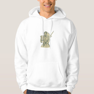 Samurai Warrior Swordfight Stance Drawing Hoodie