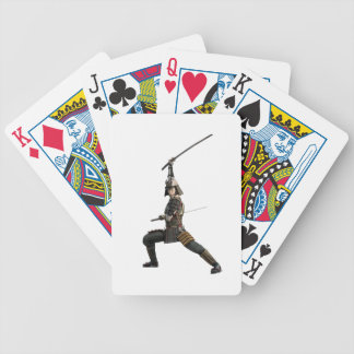 samurai with two swords looking to the front poker deck