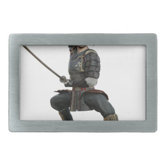 samurai with two swords ready looking to the front belt buckles