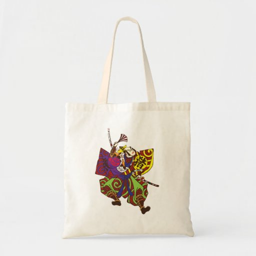 Samurai with vintage japan painting style bags