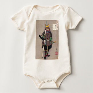 Samurai Yukimori 山中幸盛 by Yoshitoshi 月岡芳年 Baby Bodysuit