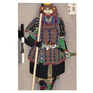 Samurai Yukimori 山中幸盛 by Yoshitoshi 月岡芳年 Dry Erase Board