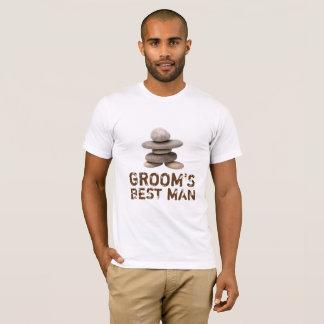 Samurai Zen Stones Groom Best Man T-Shirt