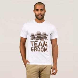 Samurai Zen Stones Team Groom T-Shirt