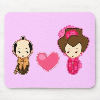 Samurai's heart mouse pad