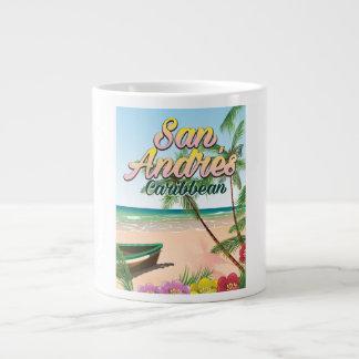 San Andrés island travel poster Large Coffee Mug