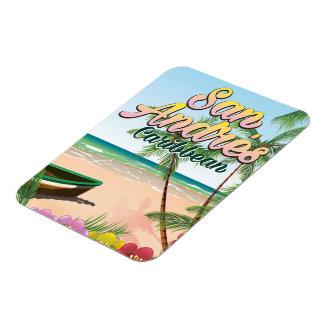 San Andrés island travel poster Magnet