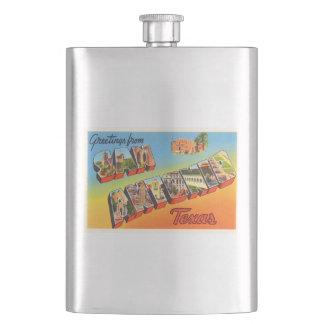 San Antonio #1 Texas TX Vintage Travel Souvenir Flasks