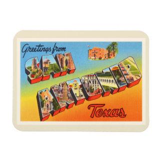 San Antonio #1 Texas TX Vintage Travel Souvenir Magnet